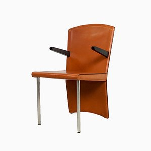 Vintage Cognac Leather Dining Chair by Andrea Branzi for Zanotta