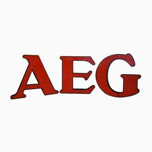 Deutsche AEG Unternehmenslogo Buchstaben von Peter Behrens