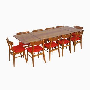 Tavolo da pranzo Mid-Century allungabile in teak, Danimarca, anni '60