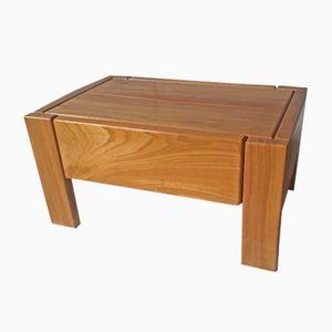 Nachttisch aus Massivem Ulmenholz von Regain, 1980er
