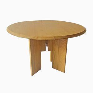 Ausziehbarer Esstisch aus Ulmenholz von Regain, 1980er