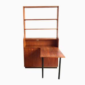 Vintage Bücherregal mit Werktisch