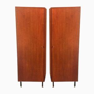 Vintage Holz Kleiderschränke, 1960er, 2er Set
