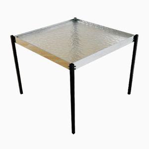 Tavolino da caffè in metallo cromato e vetro di Günter Renkel per Rego Möbel, anni '60