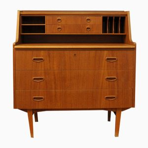 Mid-Century Teak Writing Desk or Secretaire, 1960s