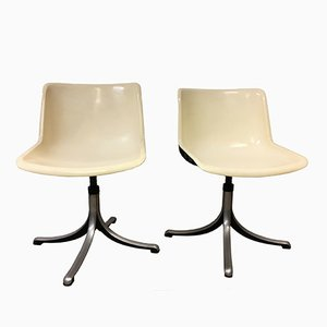 Modus Office Chairs by Osvaldo Borsani for Tecno, 1975, Set of 2