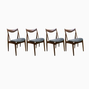 Vintage Sculptural Dining Chairs by Kurt Østervig for Bramin, Set of 4