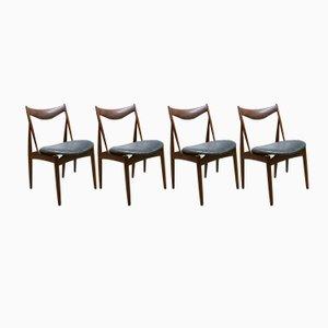 Vintage Sculptural Dining Chairs by Kurt Østervig for Bramin, Set of 4