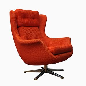 Danish Red Armchair, 1970s