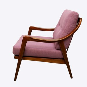 Vintage Lounge Chair in Dark Purple, 1950s