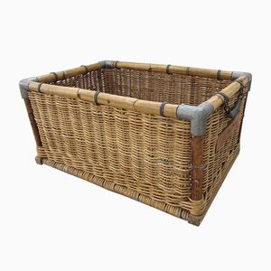 Woven Laundry Basket, 1950s