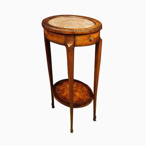 Antiker Französischer Tisch mit Einlegearbeiten