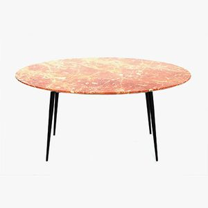 Italian Red Marble Coffee Table, 1950s