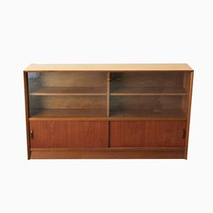Vintage Bookcase in Teak and Glass by Herbert Gibbs, 1960s