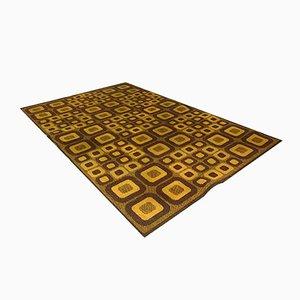Deutscher Op-Art Teppich mit Abstraktem Grafischem Muster von Magura, 1960er