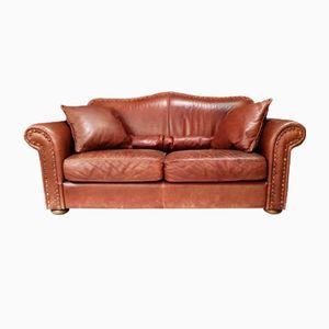 Italienisches Leder Sofa, 1970er
