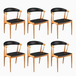 Chaises de Salon BA 113 par Johannes Andersen pour Brødere Andersen Møbelfabrik, 1967, Set de 6