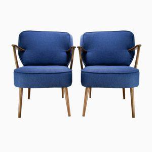 Blue German Armchairs, 1970s, Set of 2