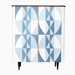 Mid-Century Scandinavian Dresser with Op-Art Pattern, 1960s