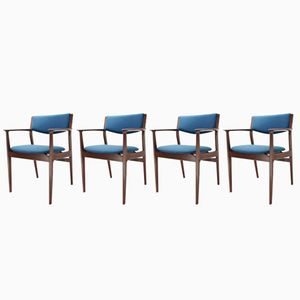 Armchairs by Erik Buck for Odense Maskinsnedkeri, 1960s, Set of 4
