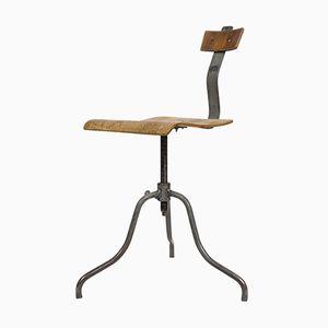 Vintage Industrial Czech Metal Swivel Chair, 1950s