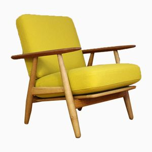 Danish Oak & Teak Cigar Lounge Chair by Hans J. Wegner for Getama, 1955
