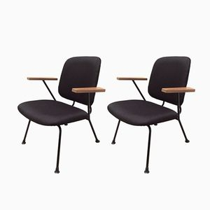 Mid-Century Dutch Wooden Armchairs by Willem H. Gispen for Kembo, Set of 2