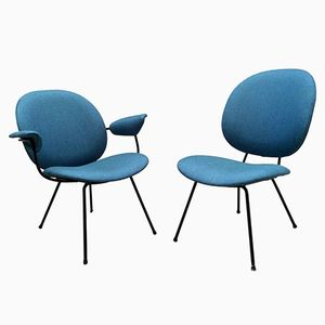 Mid-Century Dutch Blue Chairs by Willem Gispen for Kembo, 1954, Set of 2