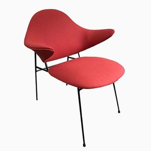 Mid-Century German Red Armchair from Thonet, 1950s