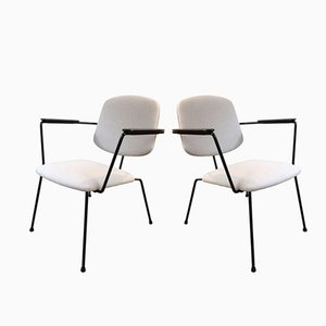 Mid-Century Dutch5003 Low Armchairs by Rudolf Wolf for Elsrijk, 1955, Set of 2