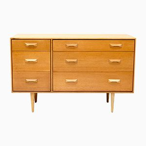 Vintage Concord Oak Chest of Drawers by John & Sylvia Reid for Stag