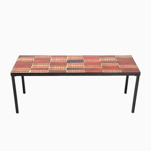 Mid-Century Ceramic Tile Coffee Table by Roger Capron, 1950s