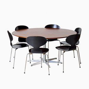Dänischer Vintage 6-Star Tisch mit 6 Ant Stühlen von Arne Jacobsen für Fritz Hansen, 1960er