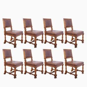 Esszimmerstühle aus Eiche, 1870er, 8er Set