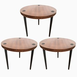 Partroy Stack Tables by Pierre Cruege for Formes, 1950s, Set of 3