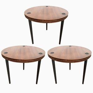 Tables Partroy Stack par Pierre Cruege pour Formes, 1950s, Set de 3