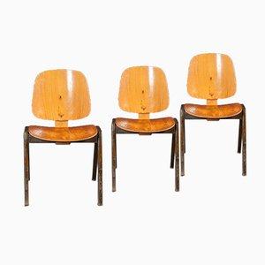 Vintage Bugholz Sühle von Thonet, 3er Set