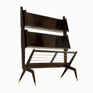 Italian Lacquered Wood Book Shelf, 1950s