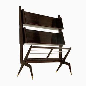 Italienisches Bücherregal aus Lackiertem Holz, 1950er