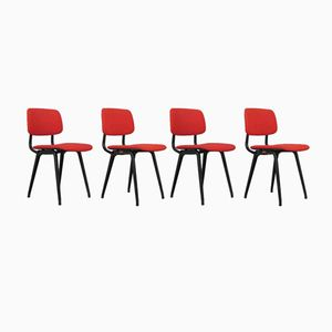 Vintage Revolt Chairs by Friso Kramer for Ahrend De Cirkel, Set of 4