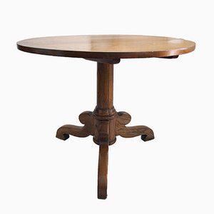Antique Oak & Ash Round Table