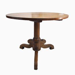 Runder Antiker Tisch aus Eiche und Esche
