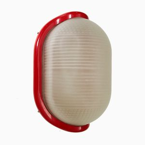 Red Wall Lamp by Achille Castiglioni for Flos, 1970s