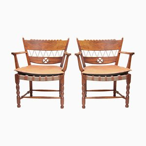 Armchairs by Oskar Strnad, 1920s, Set of 2