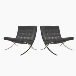 Barcelona Stühle von Mies van der Rohe von Knoll International, 1980er, 2er Set