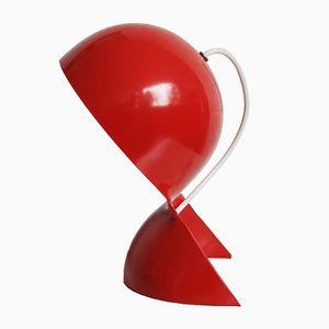 Rote Dalu Tischlampe von Vico Magistretti für Artemide, 1960er