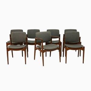 Esszimmerstühle und Armlehnstuhl von Erik Buch für Orum Mobler, 7er Set