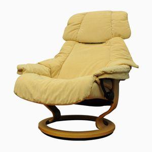 Gelber Vintage Sessel von Stressless