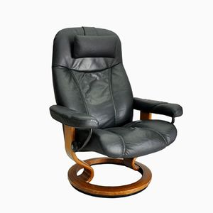 Vintage Black Lounge Chair from Stressless