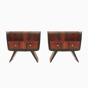 Italian Rosewood Nightstands from La Permanente, 1940s, Set of 2